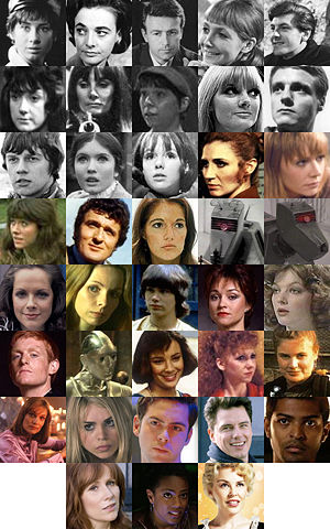 A myriad of mostly female Companions.